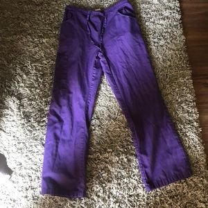 Dickies Women's Size XS Petite Purple Scrub Pants